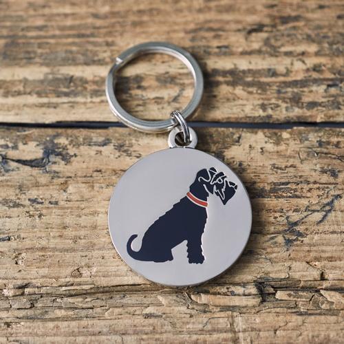 Black Schnauzer Dog ID Name Tag £12.50
