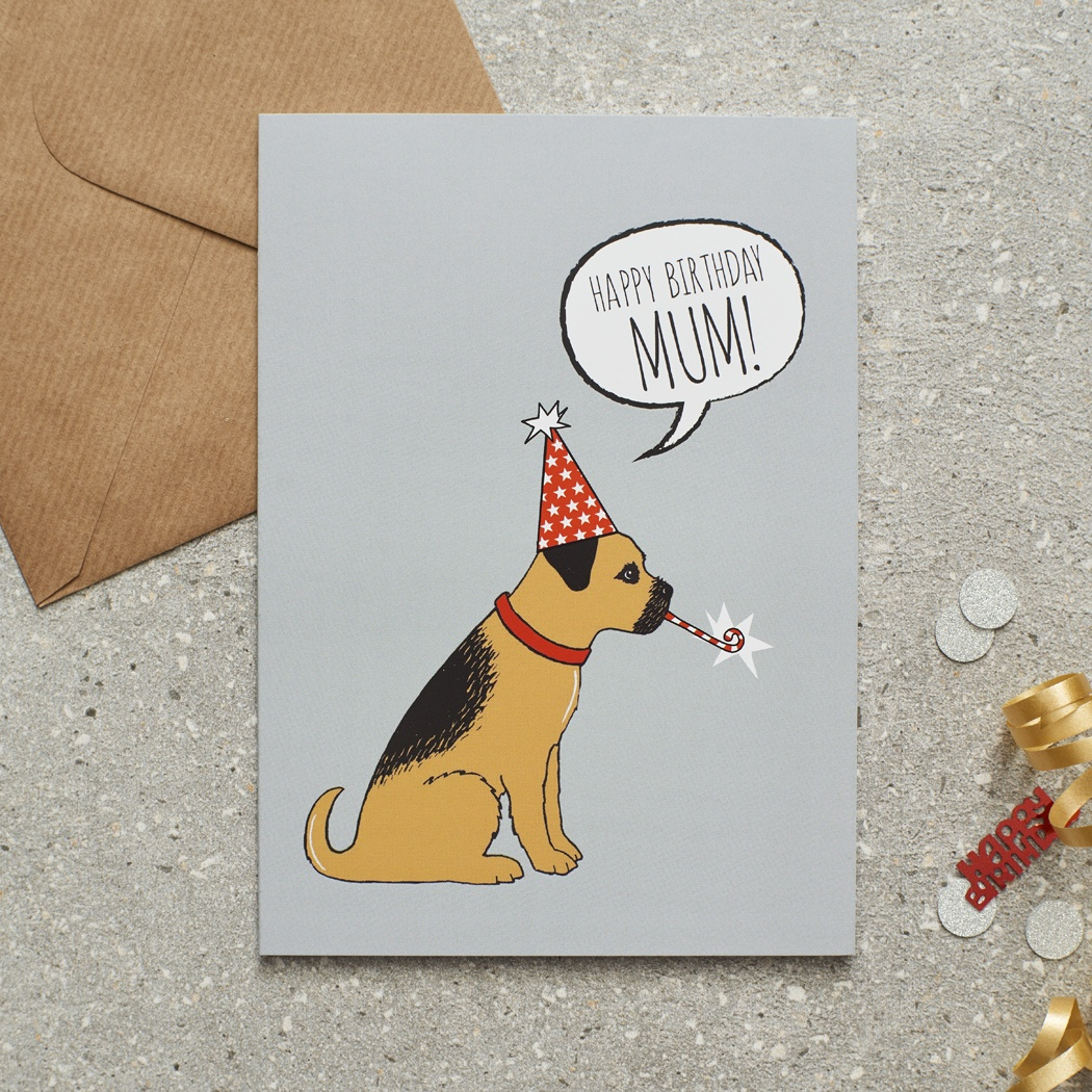 border terrier happy birthday mum card £275  mischievous