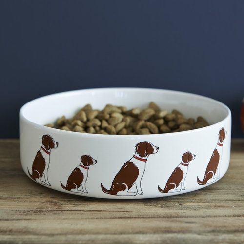 Springer Spaniel (Liver & White) Dog Bowl