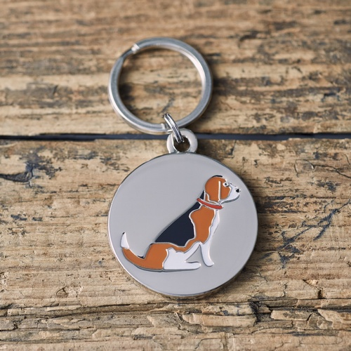 Beagle Dog ID Name Tag