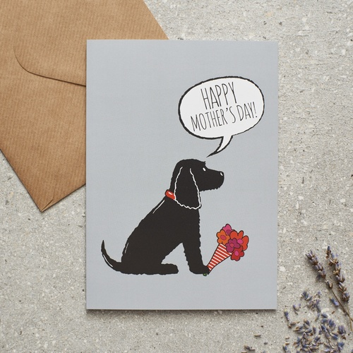 Black Cocker Spaniel Mother's Day Card