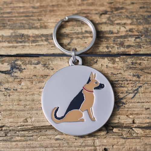 German Shepherd / Alsatian Dog ID Name Tag