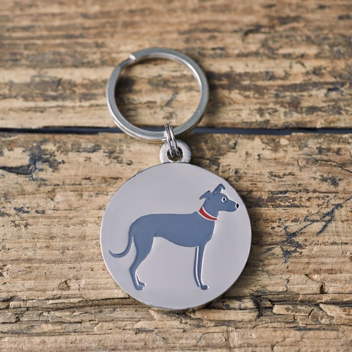Lurcher Dog ID Name Tag