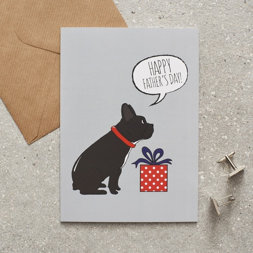 French Bulldog Father's Day Card