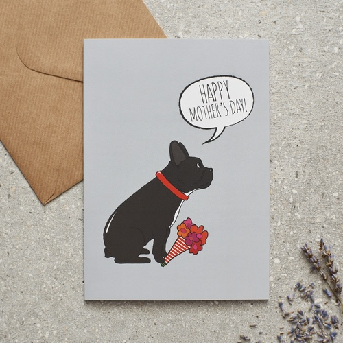 French Bulldog Mother's Day Card