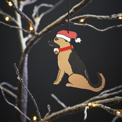 German Shepherd Dog Christmas Tree Decoration