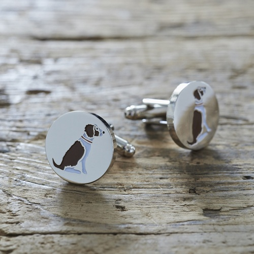 Springer Spaniel (Liver & White) Cufflinks