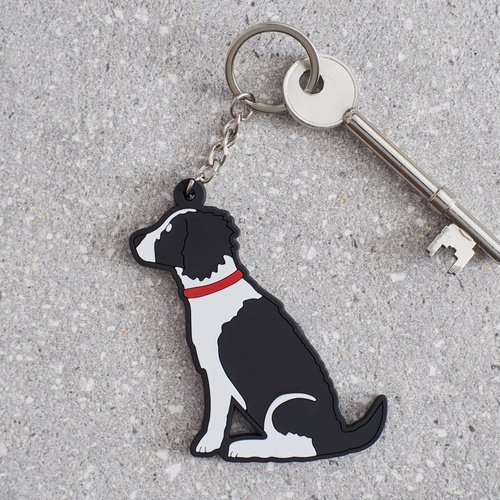 Springer Spaniel (Black & White) Key Ring