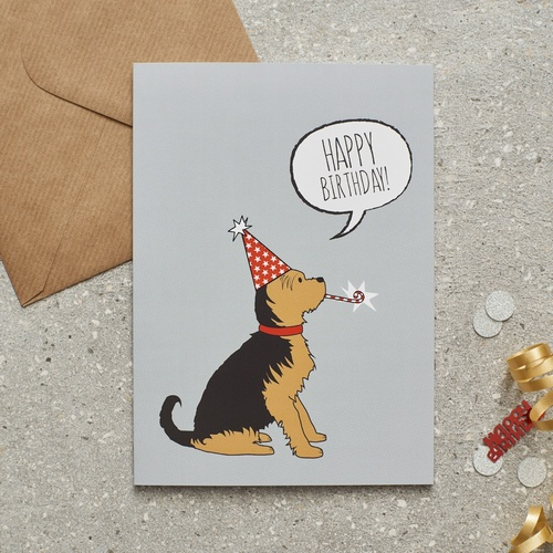 Yorkshire Terrier Birthday Card