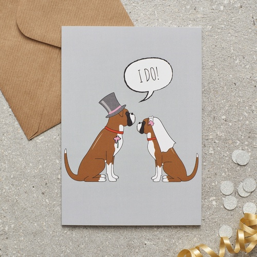 Boxer Wedding Card