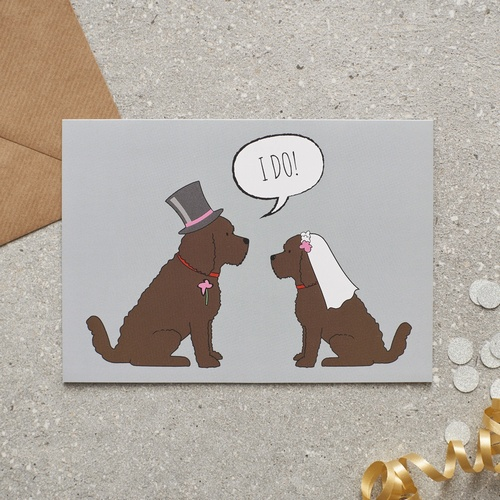 Cockapoo Wedding Card