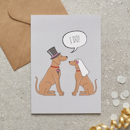 Vizsla Wedding Card