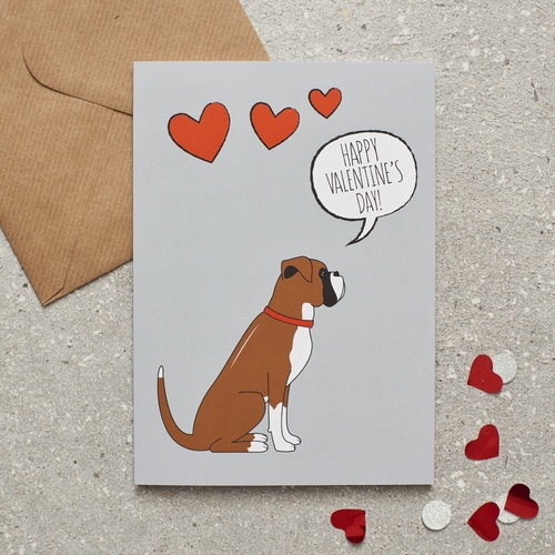 Boxer Valentine's Day Card