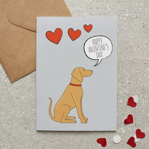 Vizsla Valentine's Day Card