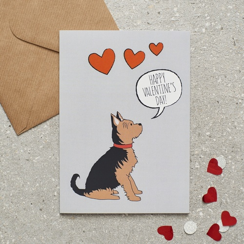 Yorkshire Terrier Valentine's Day Card