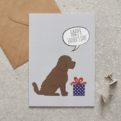 Cockapoo Father's Day Card