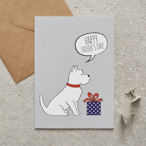 Westie Father's Day Card