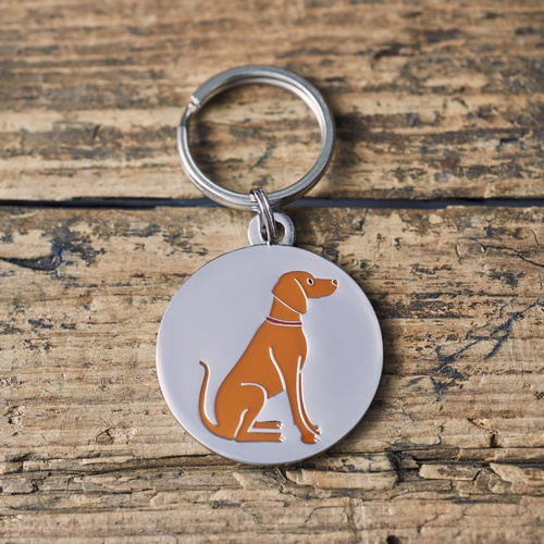 Hungarian Vizsla Dog ID Name Tag