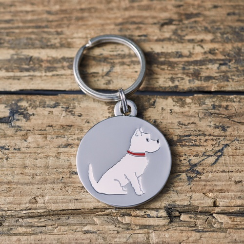 Westie Dog ID Name Tag