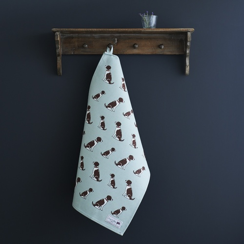 Springer Spaniel (Liver & White) Tea Towel