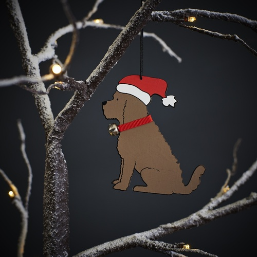 Cockapoo Dog Christmas Tree Decoration