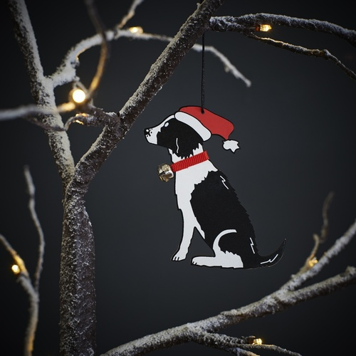 Springer Spaniel (Black & White) Christmas Tree Decoration