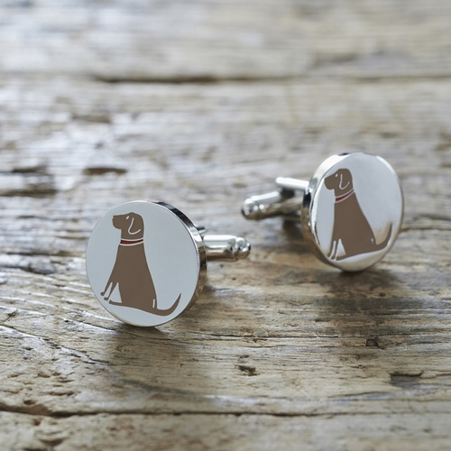 Chocolate Labrador Cufflinks