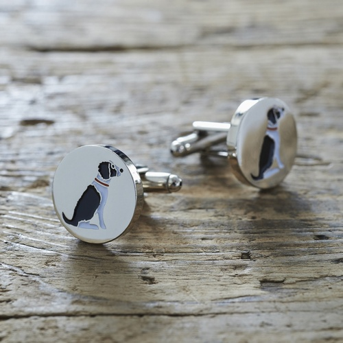Springer Spaniel (Black & White) Cufflinks