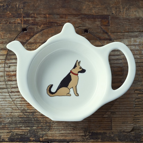 German Shepherd Teabag Dish