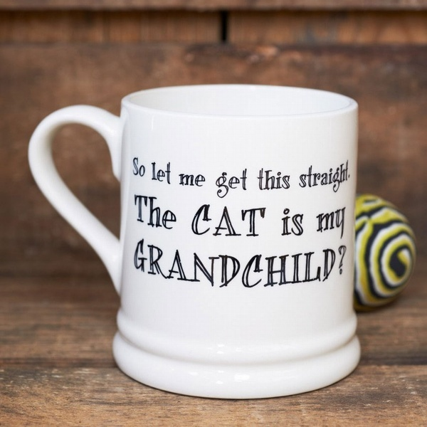 The cat is my grandchild mug