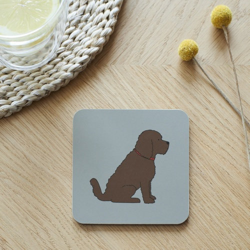 Chocolate Cockapoo / Labradoodle Coaster