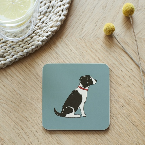 Black & White Springer Spaniel Coaster