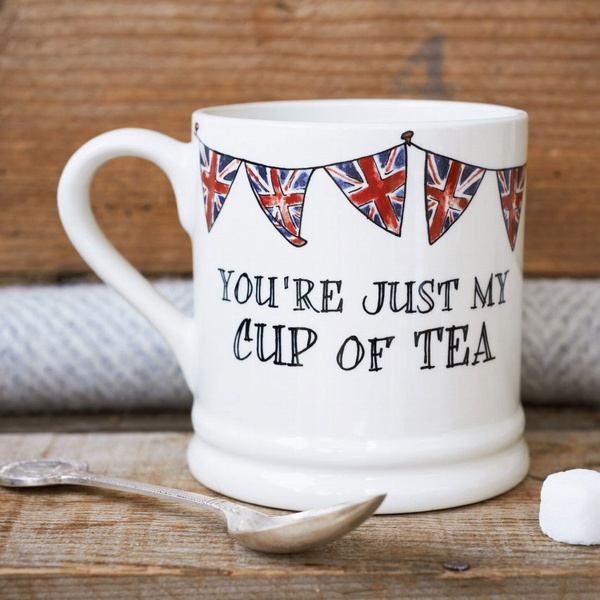 You're just my cup of tea mug with Union Jack bunting