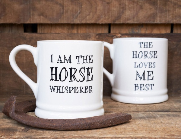 I am the horse whisperer mug and the horse loves me best mug