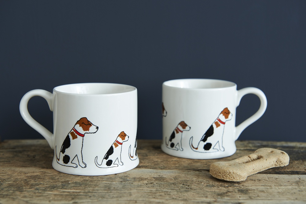 Two Jack Russell mugs
