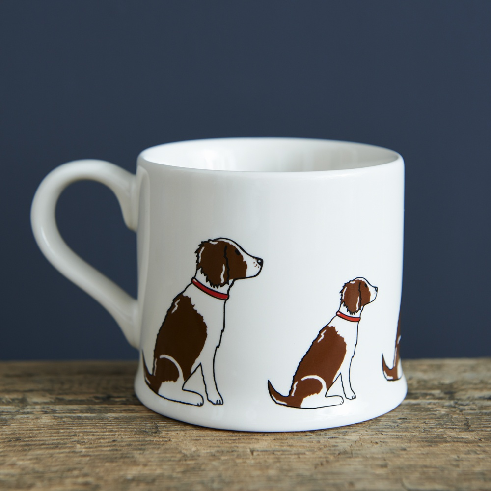 Liver and White Springer Spaniel mug