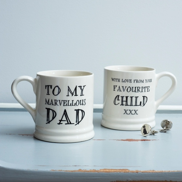 To my marvellous Dad with love from your favourite child