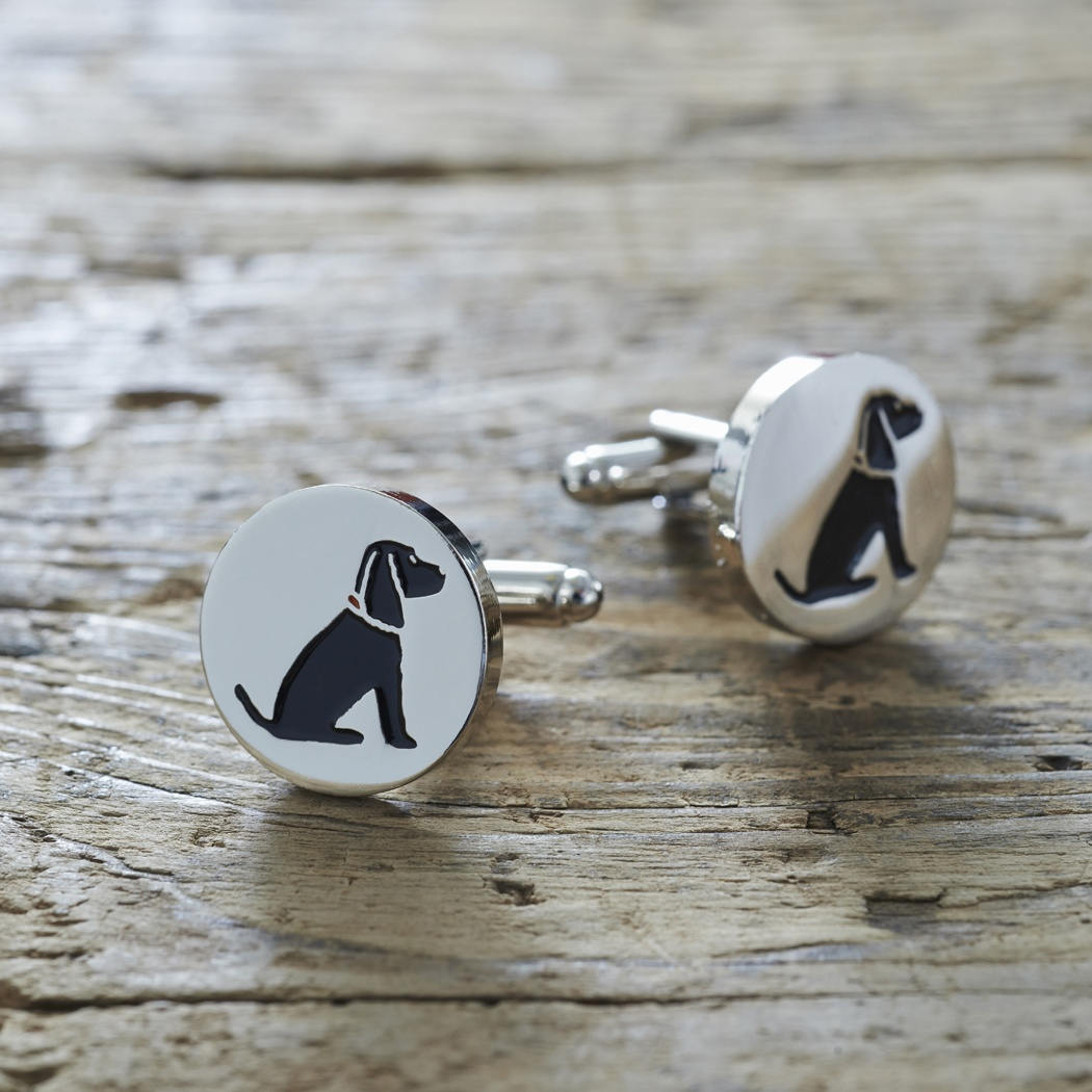 Black Cocker Spaniel Cufflinks
