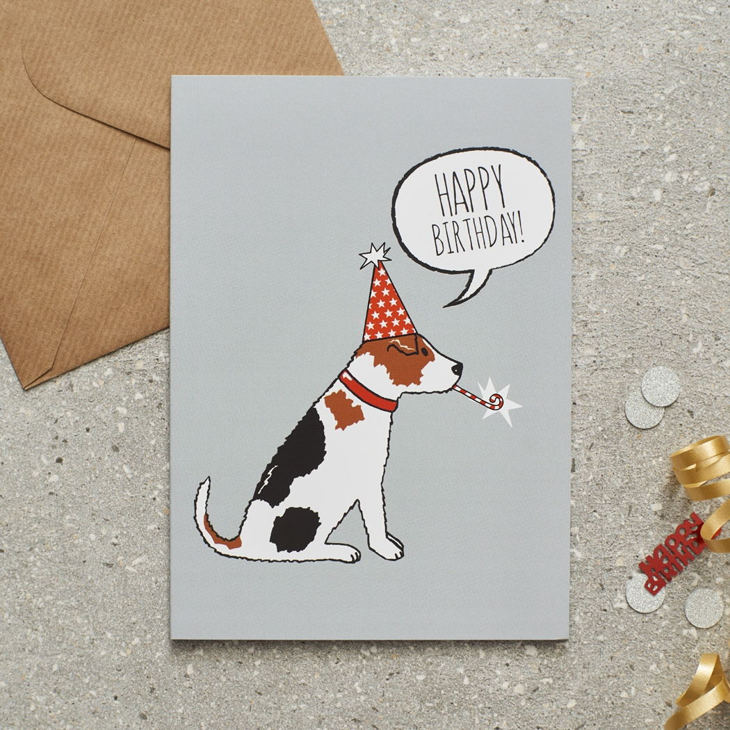 Jack Russell Birthday Card