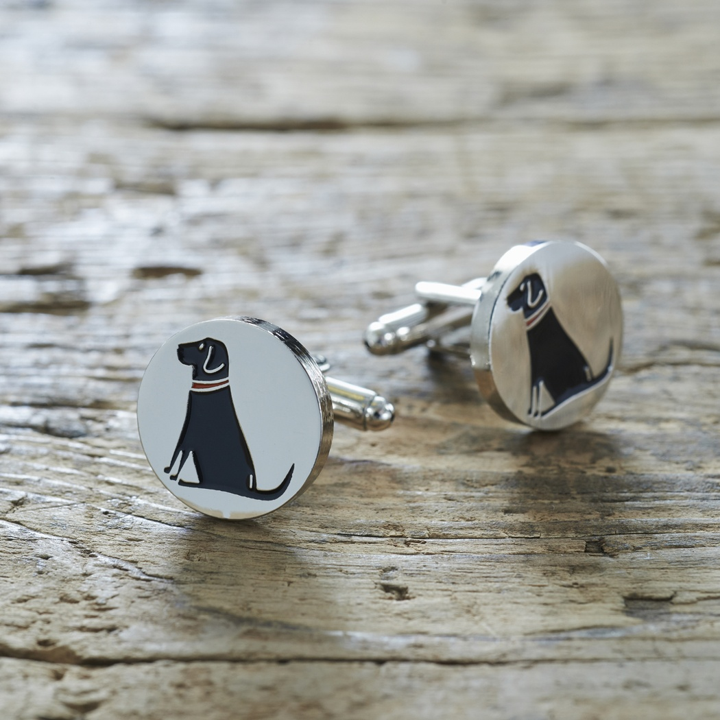 Black Labrador Lab Cufflinks