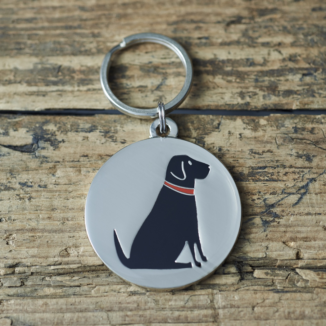 Black Labrador Lab Dog Tag