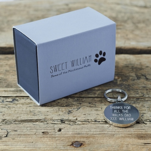 Grey Schnauzer Cufflinks and Tag gift set