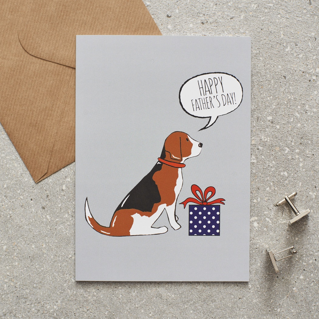 Beagle Father's Day Card
