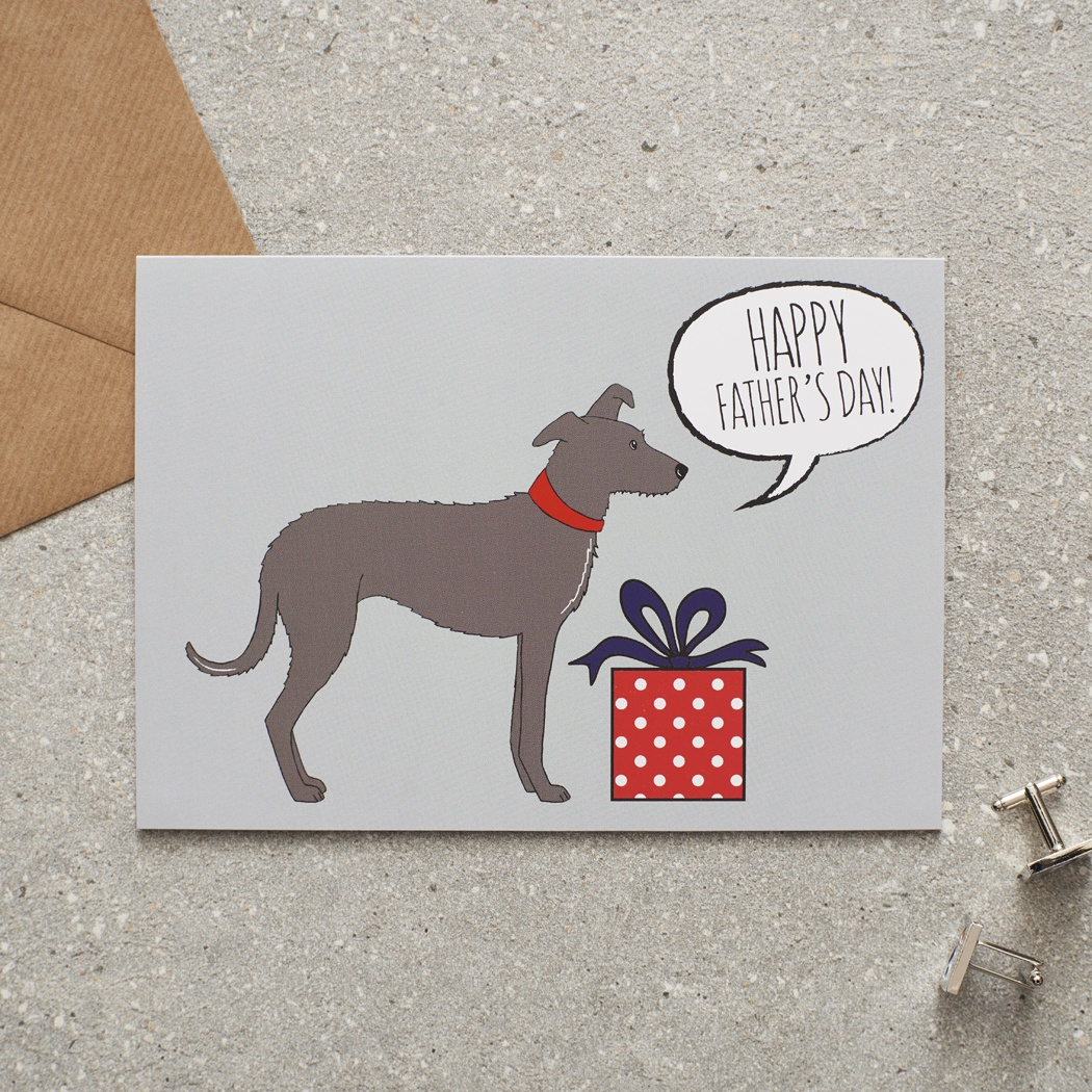 Lurcher Father's Day Card