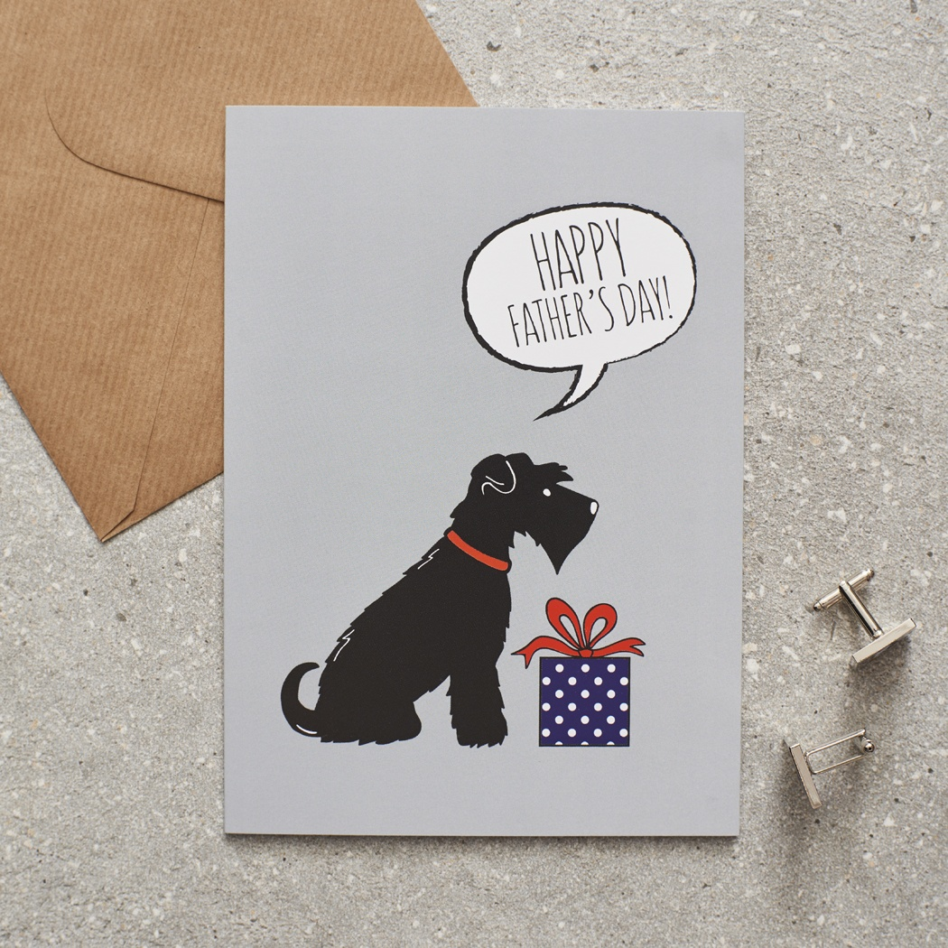 Black Schnauzer Father's Day Card