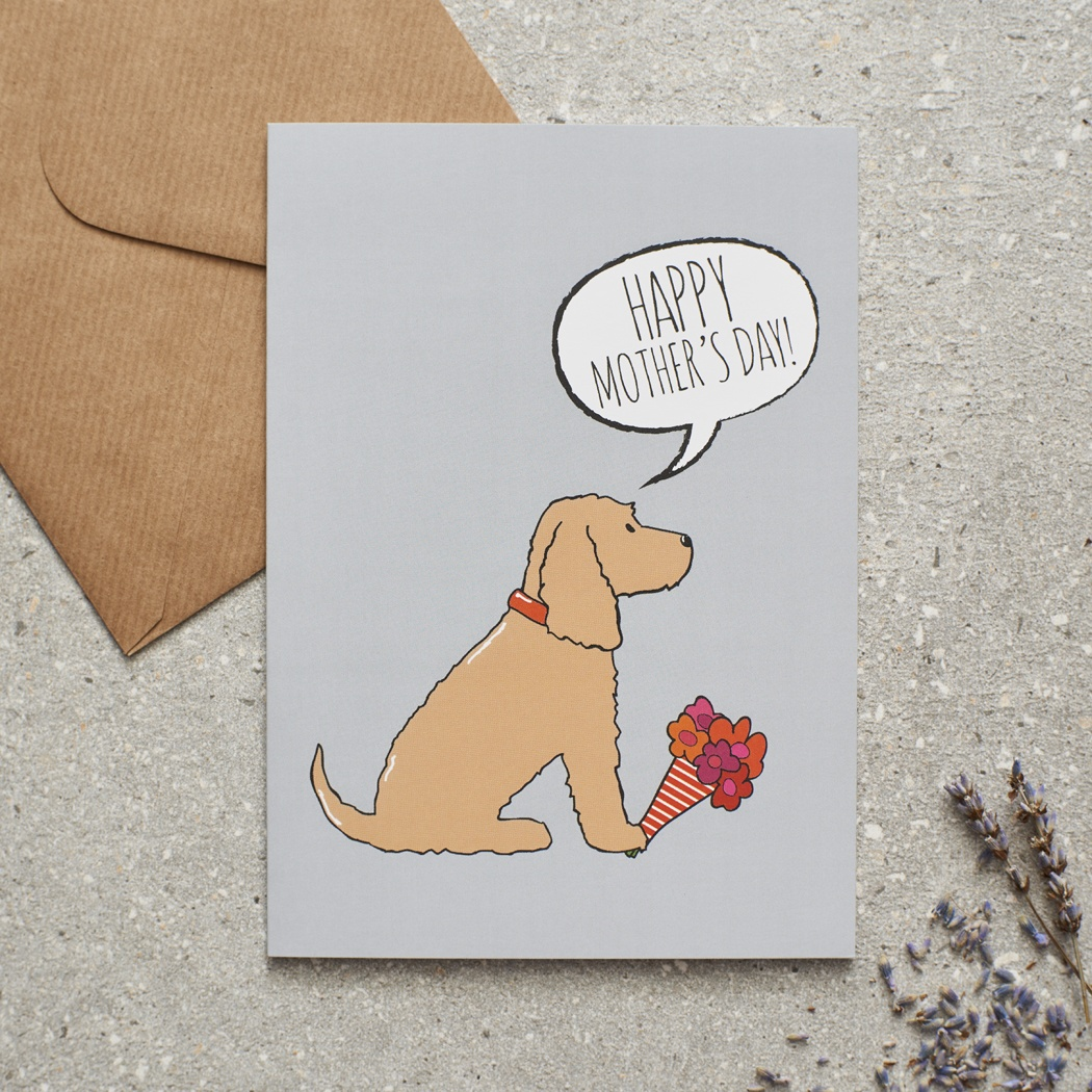 Golden Cocker Spaniel Mother's Day Card