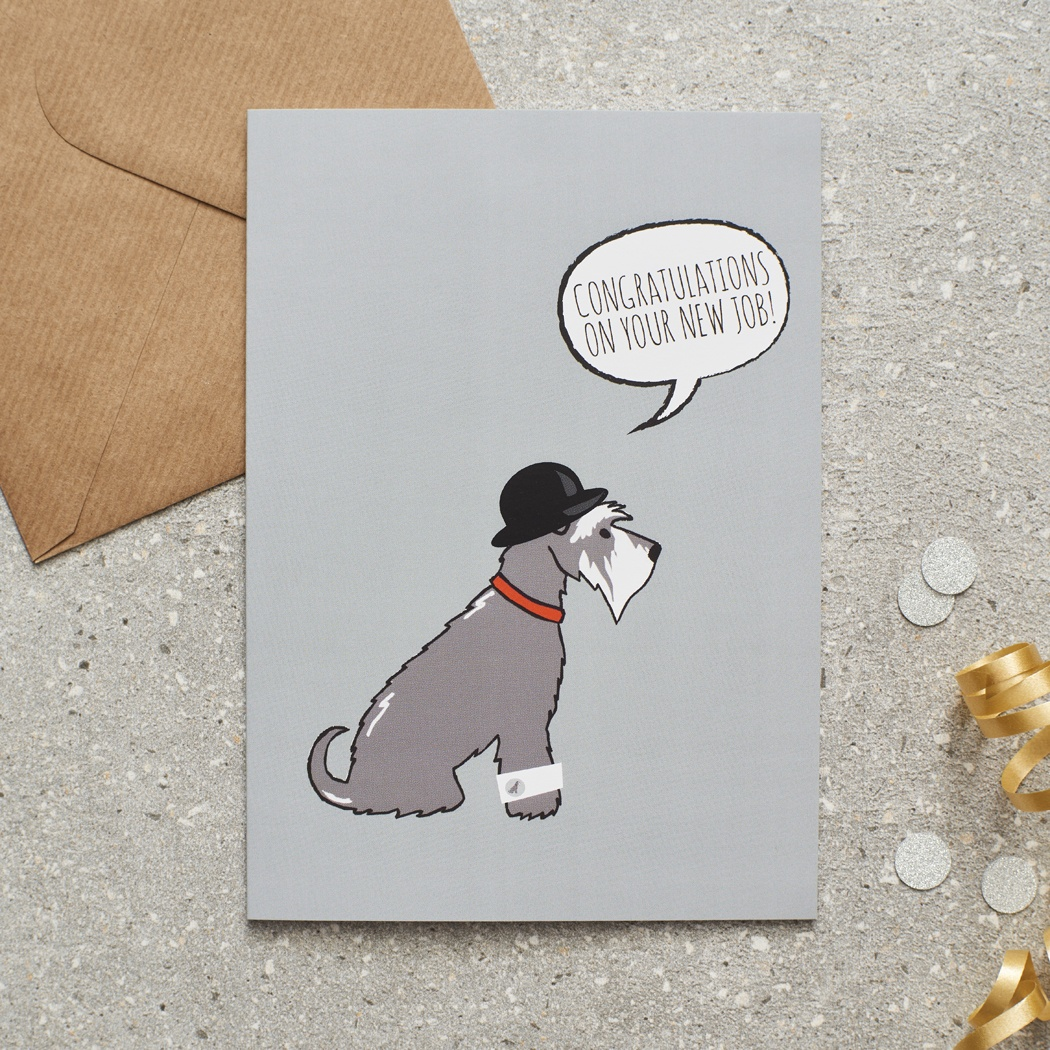 Grey Schnauzer New Job Card