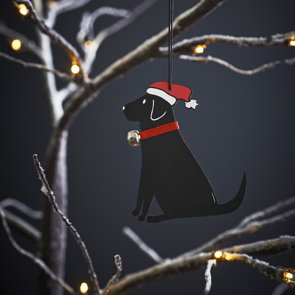 Black Labrador Dog Christmas Tree Decoration / Ornament