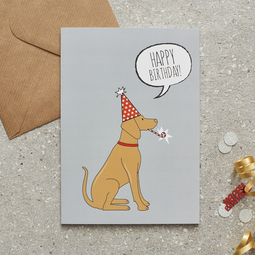 Vizsla Birthday Card
