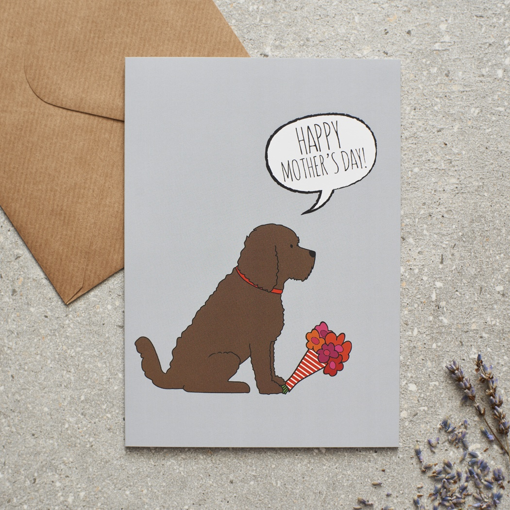 Cockapoo Mother's Day Card